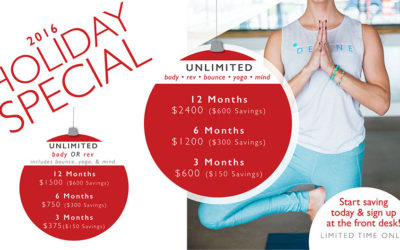 Holiday Specials Arrive Early At DEFINE