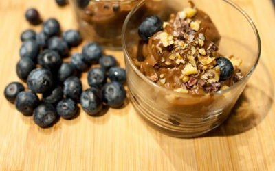 Foods That Boost Your Mood: Sea Salt-flecked Dark Chocolate Blueberry Parfaits